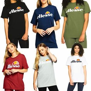 Ellesse-Women-039-s-Albany-T-Shirt-Black-White-Green-Grey-Blue-Red-UK-8-14