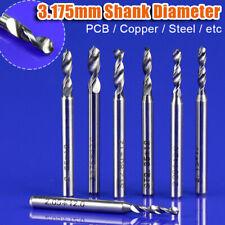 10tlg Schaft 0.8-3.175mm Nase Schaftfräser Hartmetall Bohrer CNC PCB Frässtifte