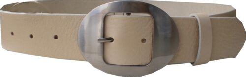 ceinture cuir en cuir avec Createur Boucle Nouveau! env 4 Cm Large Top Ceinture cuir