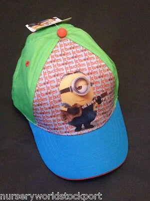 cotton kids childrens hat hats summer sun cap minions despicable me 2-8YRS £4.99