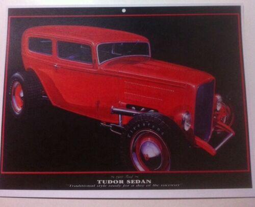 1932 Ford Tudor Sedan Roadster Illustration 8x10 Reprint Garage Decor