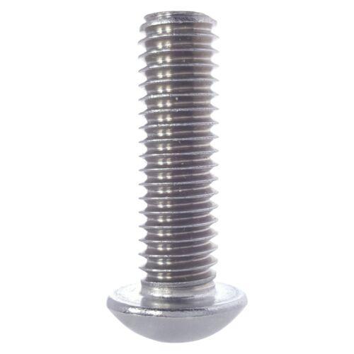 "10-24 x 3//8/"" Button Socket Cap Screw Allen Hex Drive Stainless Steel Qty 100"