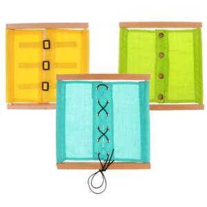 Montessori Practical Life Material-Small Buttons Dressing Frame for Kids Toy