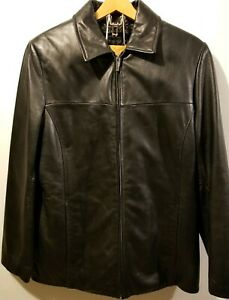 50c55cc04 Details about Womens S Wilsons Pelle Studio Blk Leather Jacket Thinsulate  Removable Liner Coat