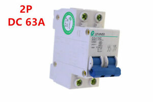 2P 63A DC 250V  Solar Circuit breaker MCB  antiflame Air switch