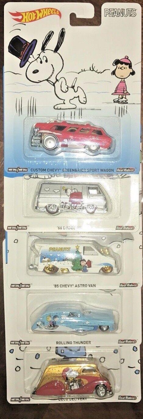 2017 Hot Wheels - Pop Culture- Peanuts - 5 Car Set, For The Adult Collector....