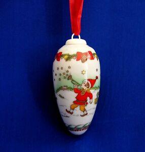 Christmas-Pine-Cone-Ornament-1998-Hutschenreuther-China-Ornament