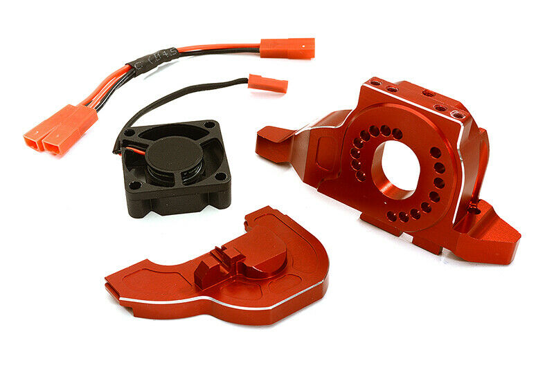 C28714rosso C28714rosso C28714rosso Alloy Motor Mount w  Cooling Fan for TRX-4 Scale & Trail Crawler c382c2