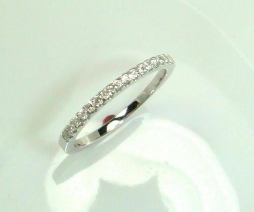 0.10CT Round Cut Natural Diamond 10K White Gold Half Eternity Wedding band
