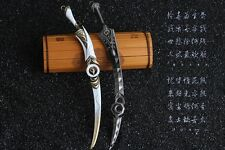 The legend of Chinese sword Jian Wang 3 Full metal zither sword 2PCS 明教-焚影双刃