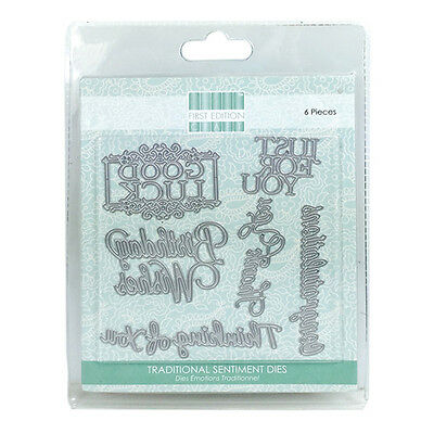 FIRST EDITION  CHRISTMAS SENTIMENT TAGS DIES 5 PIECES ON MAGNETIC SHEET