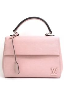 d47a8a47a02 Details about Louis Vuitton Handbag Cluny BB Rose Ballerine Epi Leather New