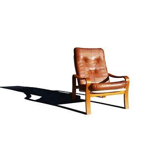 Image Is Loading Swedish Mid Century Modern MCM Plywood And Leather