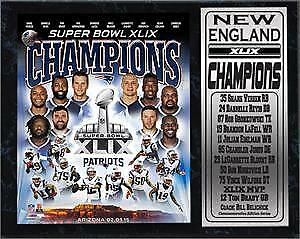 12X15-Stat-Plaque-Super-Bowl-XLIX-Champion-New-England-Patriots
