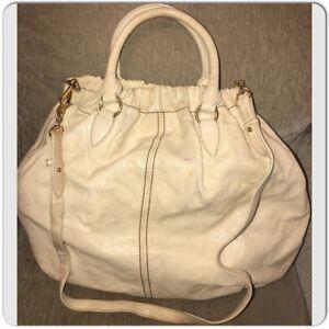 Details about MIU MIU Large Vitello Teal Distressed Leather Hobo Shoulder Crossbody Bag