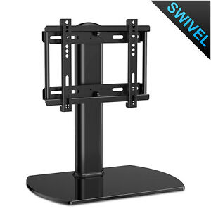 27 37 Universal Tv Stand With Swivel Mount Tempered Glass Table
