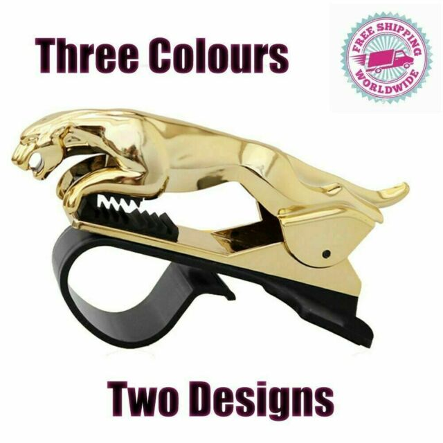Jaguar Design Car Dashboard Phone Holder 360 Degree Bracket Cell Mount Stand US