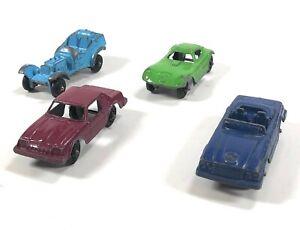 Lote-de-4-Vintage-Tootsie-Toy-Coches-De-Fundicion