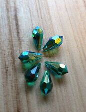 Tear Drop Pendant Crystal Beads Swarovski #6000 11.5 x 5 MM Emerald AB (6)