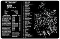 Ruger Mark Ii Armorers Gun Cleaning Bench Mat Exploded View Schematic