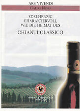 CHIANTI GALLO NERO ANNONCE PUBLICITAIRE 1990 - ADVERTISE - COUPURE MAGAZINE