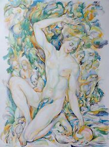 AN-DER-QUELLE-Kunstdruck-nach-Arthur-Michaelis