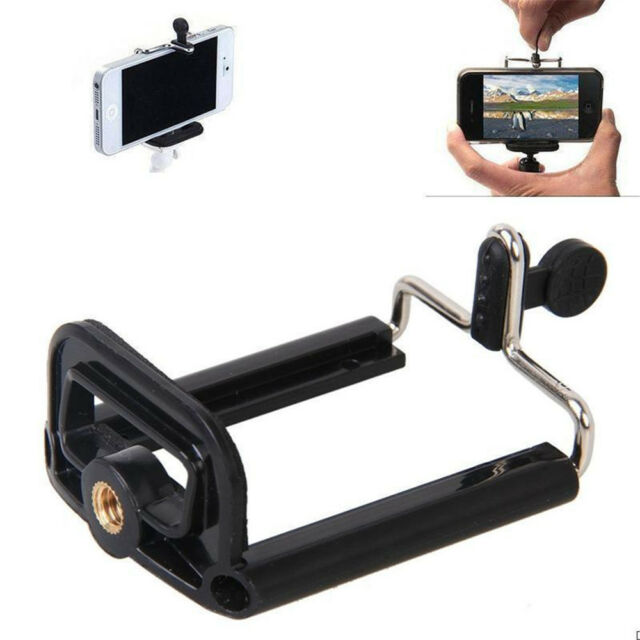 Cell Phone Camera Stand Clip Tripod Holder Mount Adapter For iPhone Huawei