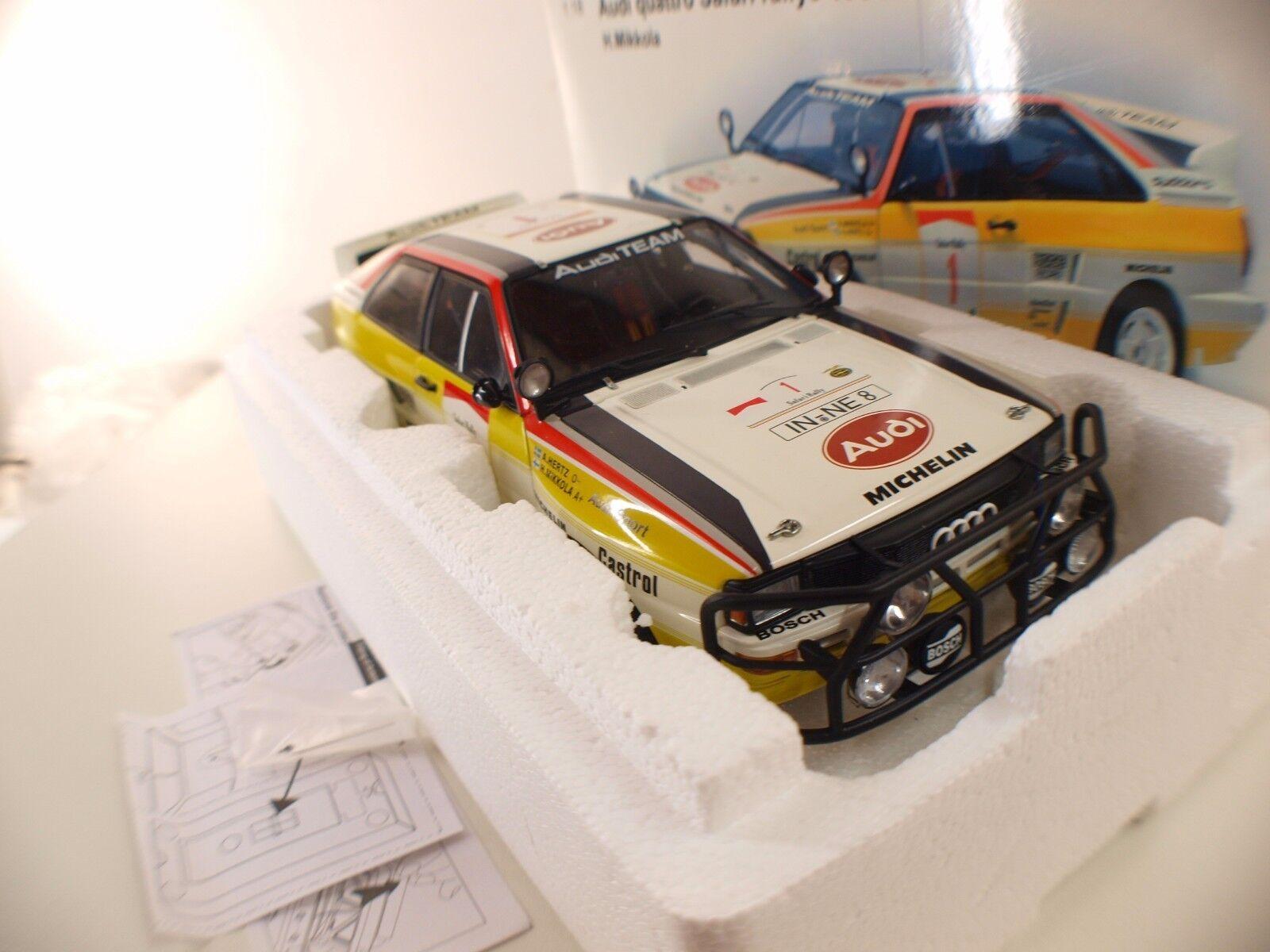 Autoart n° 88401i Quattro Safari Rallye  1 1984 1 18 neuf boîte  boxed mint