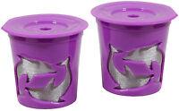 Keurig® 2.0 Coffee Filter Basket Reusable K-cups Pack 2 Refillable Purple
