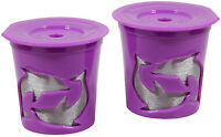 Keurig® 2.0 Coffee Filter Basket Reusable K-cups Pack 2 Refillable Purple