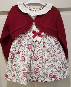 Spanish burgundy baby Girls Knit Cardigan bolero various sizes Romany