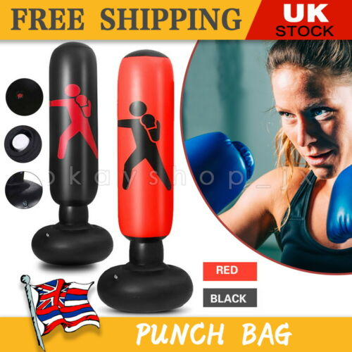 Heavy Duty Free Standing Boxing Punch Bag Kick Art UFC Training Indoor Sports