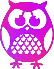 Pink Purple Cute Owl Bird Car,Van Camper Bonnet Nursery Wall Sticker LSB09 Small