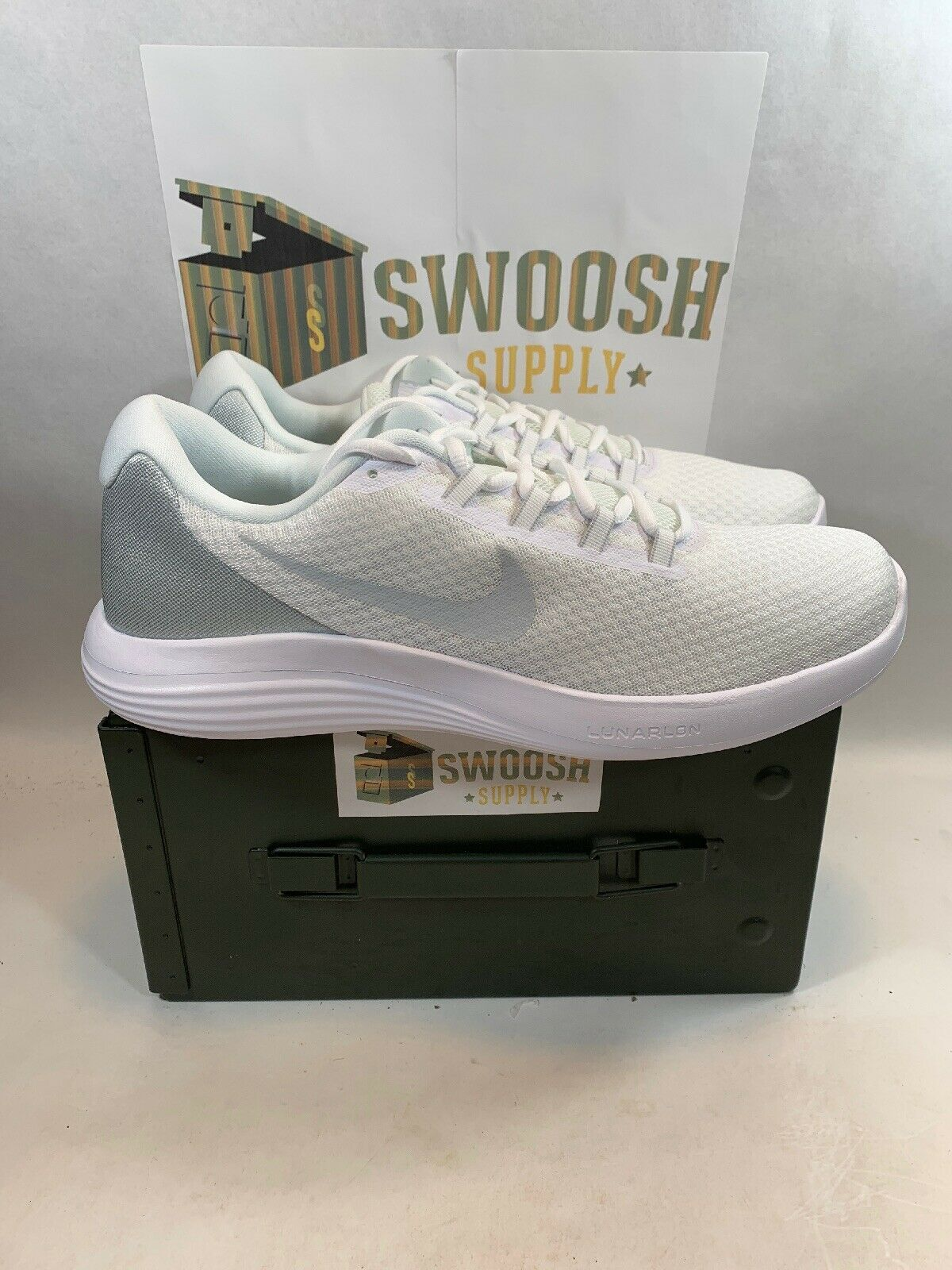 Nike Lunarconverge White Platinum 852462-100 Running shoes Size 13