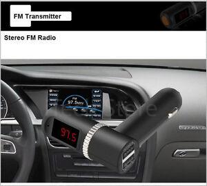 Auto-KFZ-Bluetooth-Freisprecheinrichtung-FM-Transmitter-Mic-USB-Ladegeraet-4-2A