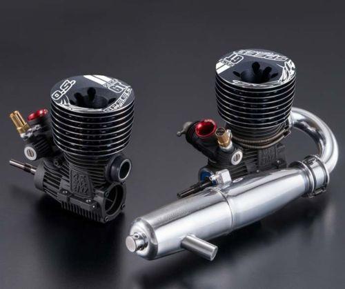 O.S. velocidad AS01 Motor 21XZ-GT con tubo T-2060SC Tune Combo Set