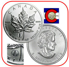 2012 Canada Leaning Tower of Pisa Privy Maple Leaf 1oz Silver Canadian Coin
