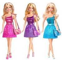 Childrens Barbie Glitz & Glam Fashion Modern Style Doll Ball Gown Disco Ages 3+