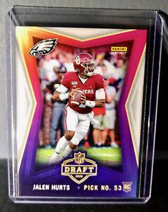 Jalen Hurts 2020 Panini NFL Instant Draft Night #7 Rookie Football Card 1 of 740
