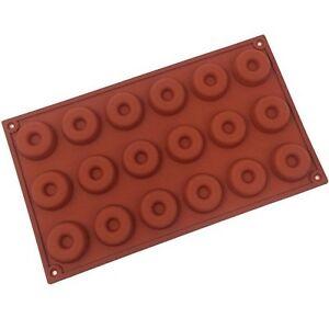 Funshowcase Mini Donut Silicone Mold 18 Cavity 30x17x1cm, New, Free Shipping