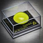 Uranium Glass Mounted Display Sample & 1 UV keyring Light (M00)