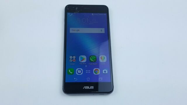 ASUS ZenFone 3 Max (X008DC) 16GB - Silver (Unlocked) Cracked Clean IMEI J6605