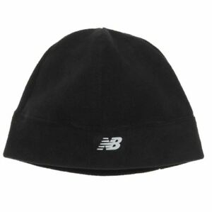 New Balance Men s Fleece Beanie Black One Size Stretch Cold Weather ... 96a2a50d193