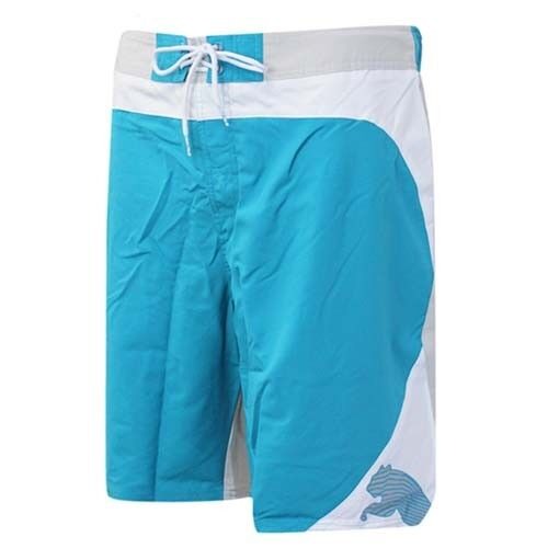 Puma Cat Logo Board Nuoto leggero Swim Pantaloncini Blu Bianco 509683 01 R10L