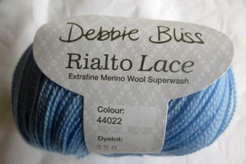 DEBBIE BLISS Rialto Lace x 50g ~ Choose Colour ~ 100/% Extra Fine Merino Wool