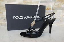 Dolce & Gabbana D&G Gr 39 Sandaletten High Heels schwarz neu UVP 375 €