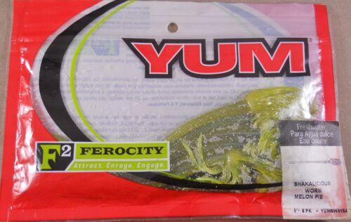 Shakalicious Worm 5 in. ferocity Bass Fishing Lure // Soft Plastic Yum F2