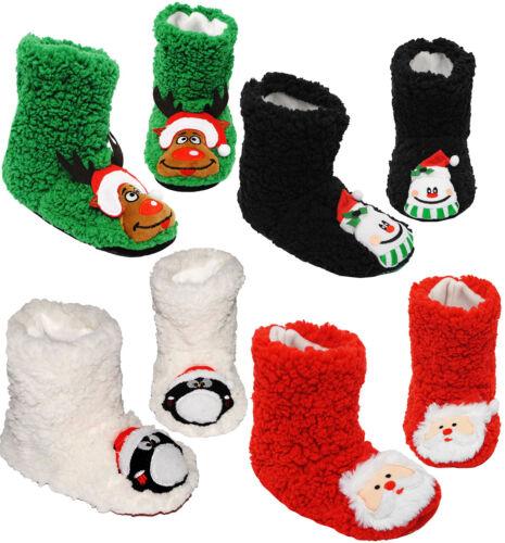 """/"""" lustige Weihnachtsmotive /"""" Hausschuhe Größe 31 Pantoffel Hüttenschuhe"""