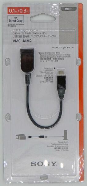 100% De Qualité Sony Vmc-uam2 Cable Usb Pour Caméra Vidéo