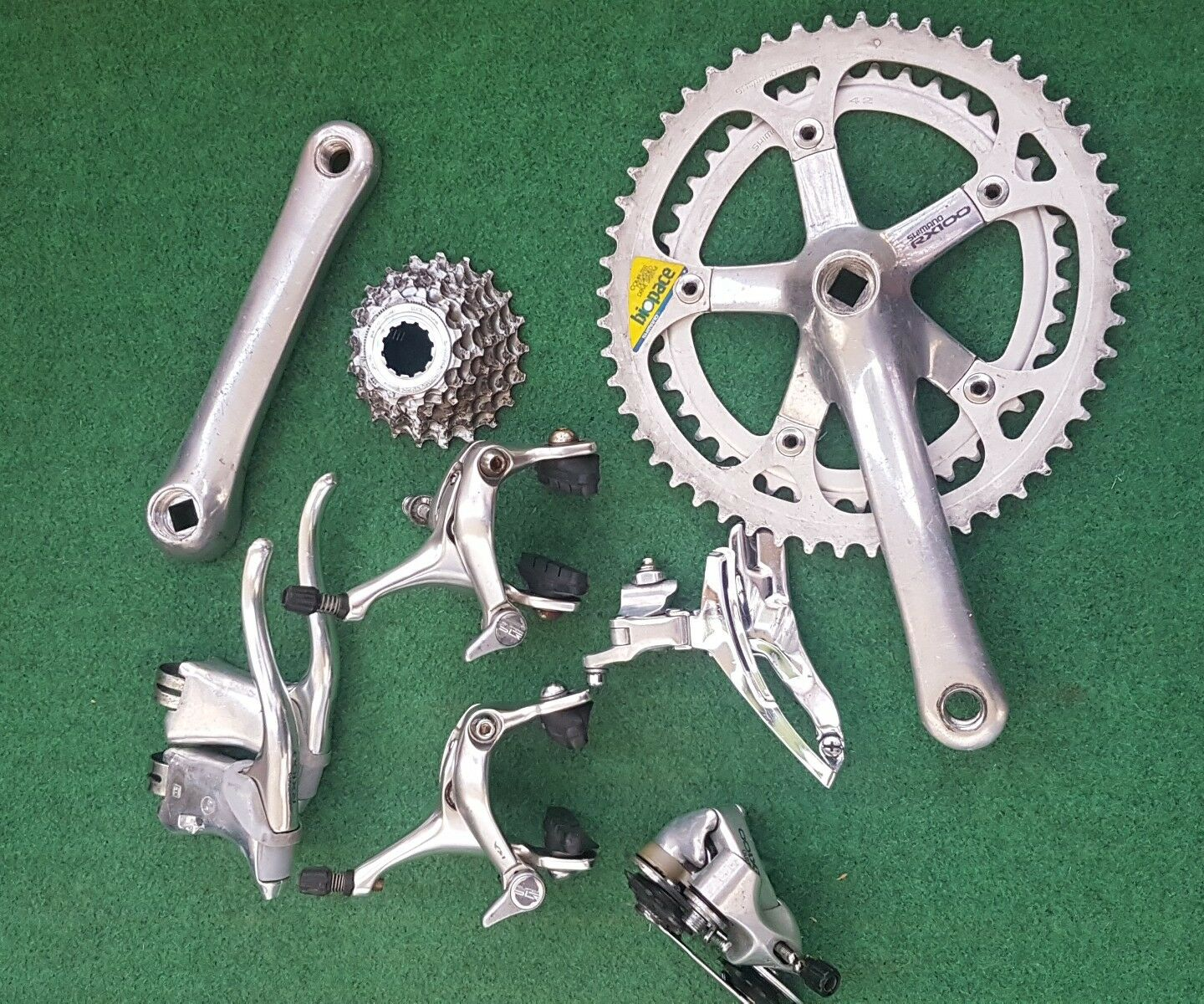 Shimano Rx100 biopace groupset ancien velo old bike  not campagnolo